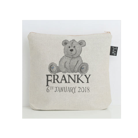 Personalised Teddy Baby Nappy Bag
