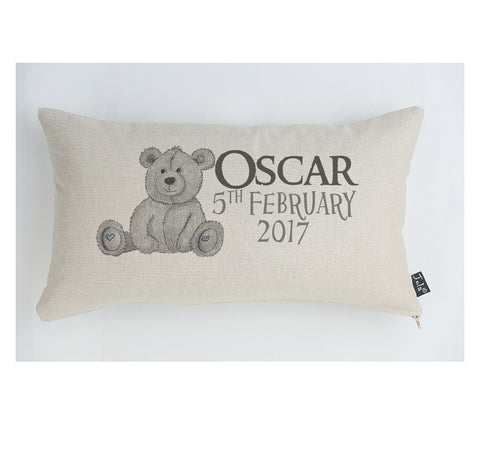 Teddy bear personalised cushion