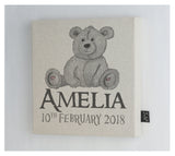 Personalised Teddy canvas frame