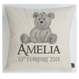 Personalised Teddy Bear cushion