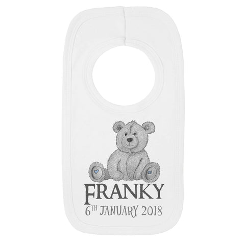 Personalised Teddy Baby Bib