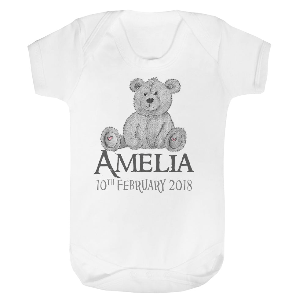 Personalised Teddy Baby Vest