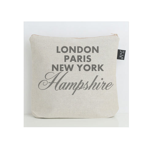 Personalised Sparkle City wash bag