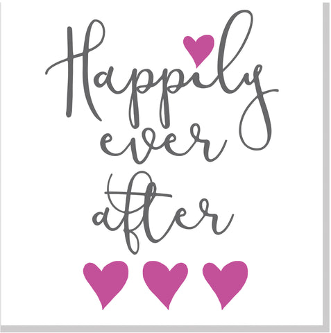Wedding Happily Ever After Hearts square card