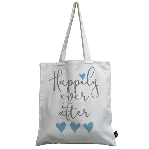 Happily ever after canvas bag