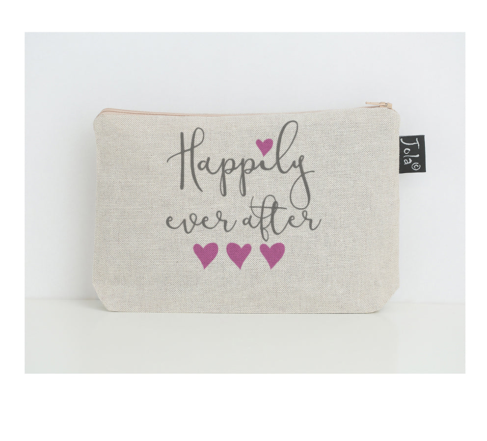 Happily ever after small make up bag