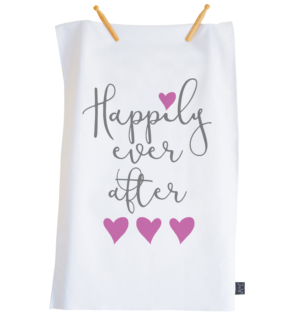 Happily ever after tea towel