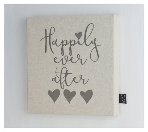 Happily ever after Wedding canvas Frame
