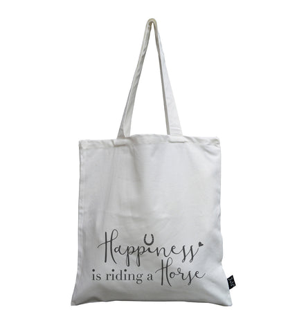 Happiness is Riding a Horse canvas bag
