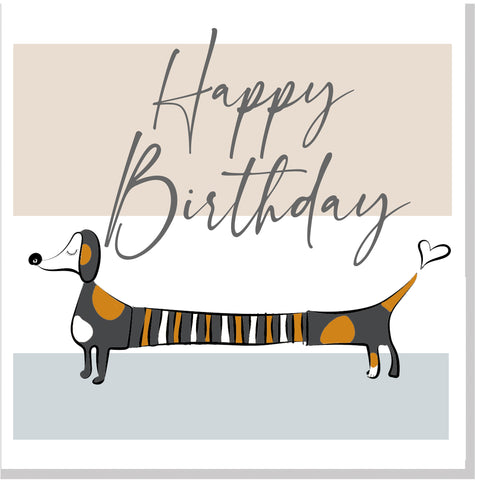 Happy Birthday Sausage Dog... square card