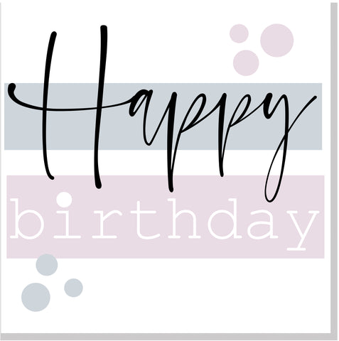 Happy Birthday pastel square card