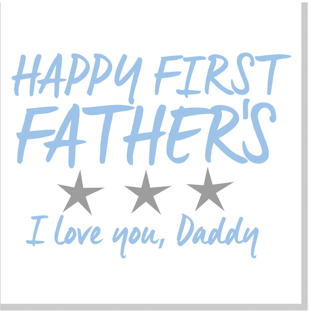 1st Father's Day square card