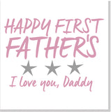 1st Father's Day square card Pink