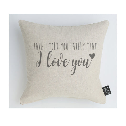 Have I told you lately that I love you cushion