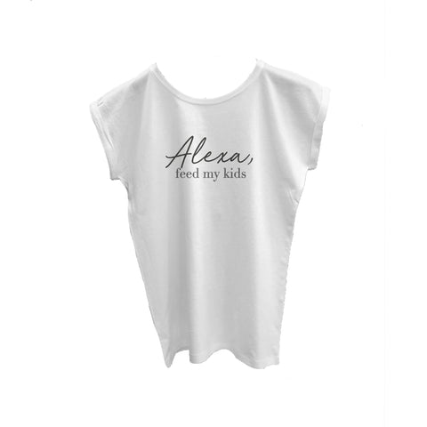 Super Soft Cotton Cuffed T Shirt Alexa Feed My Kids