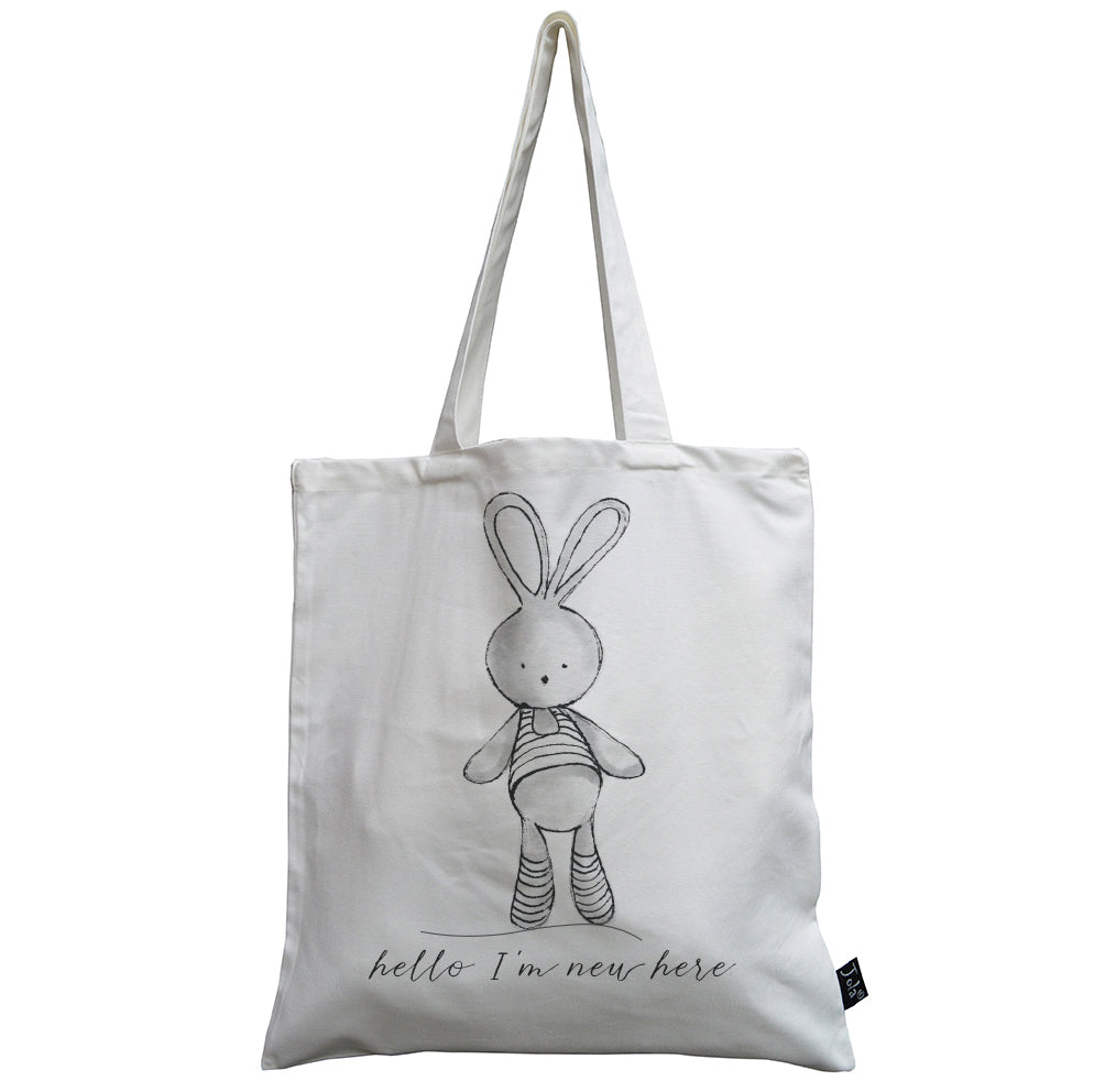 Hello I'm new here baby canvas bag