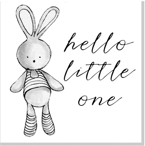 Hello Little one square card
