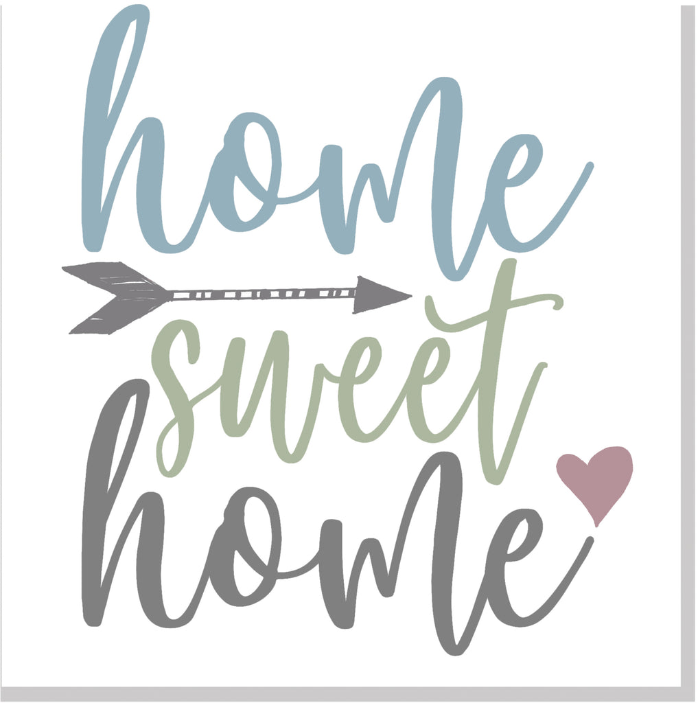 Home Sweet Home Pastel square card