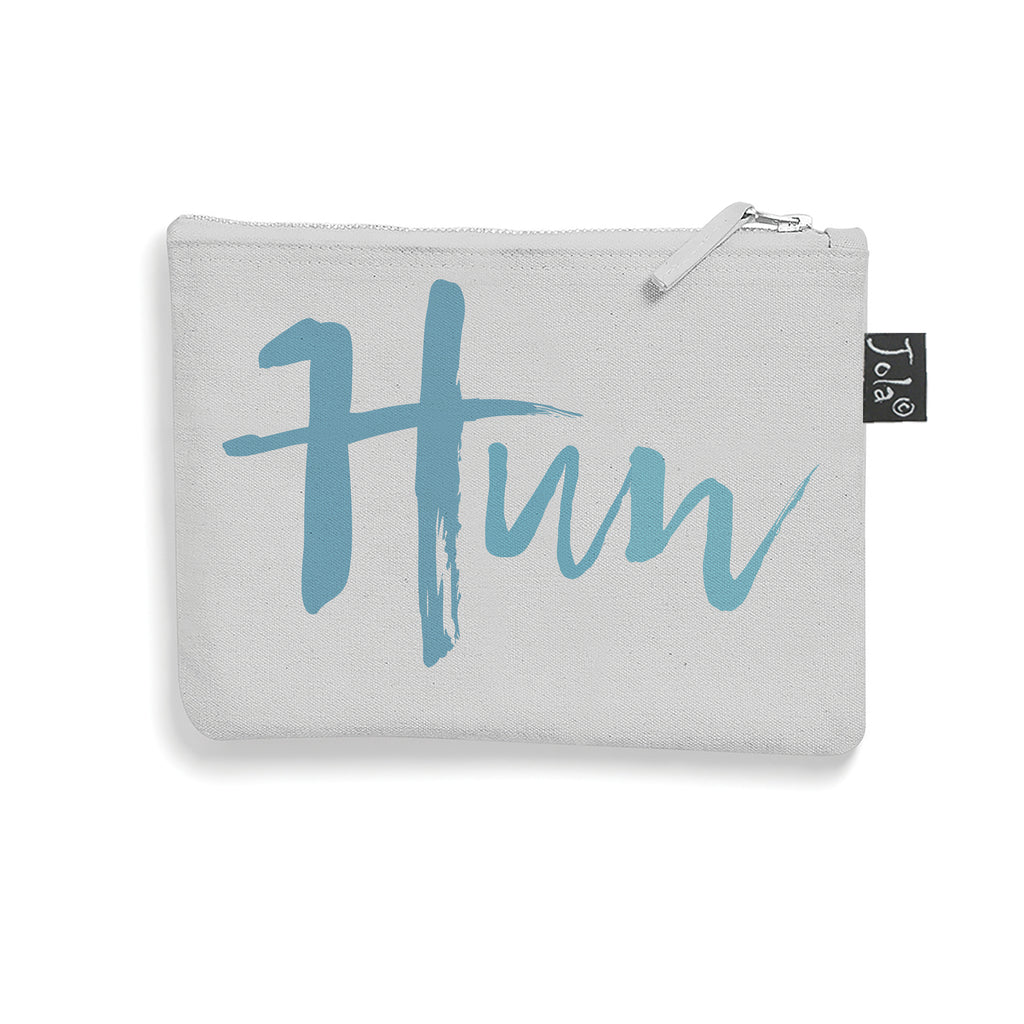 Grey Brushed cotton HUN make up bag