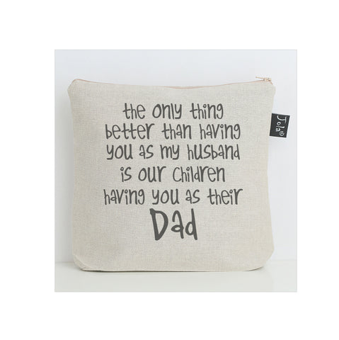 Husband Dad wash bag