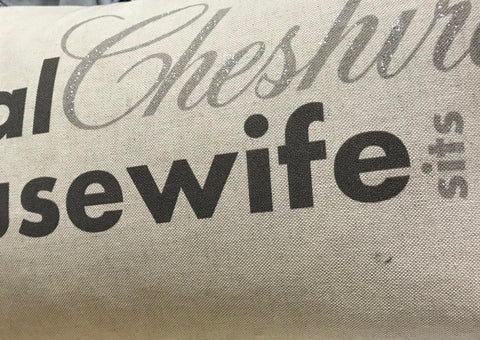 Personalised Real Cheshire Housewife cushion