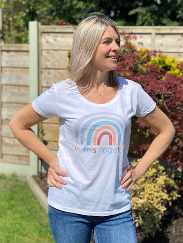 Pastel Rainbow In this together cotton t shirt