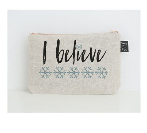 I Believe small make up bag