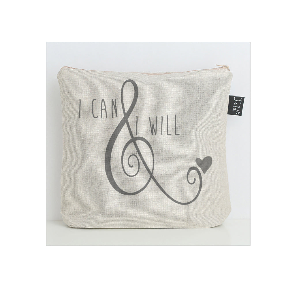 I can & I will ampersand washbag