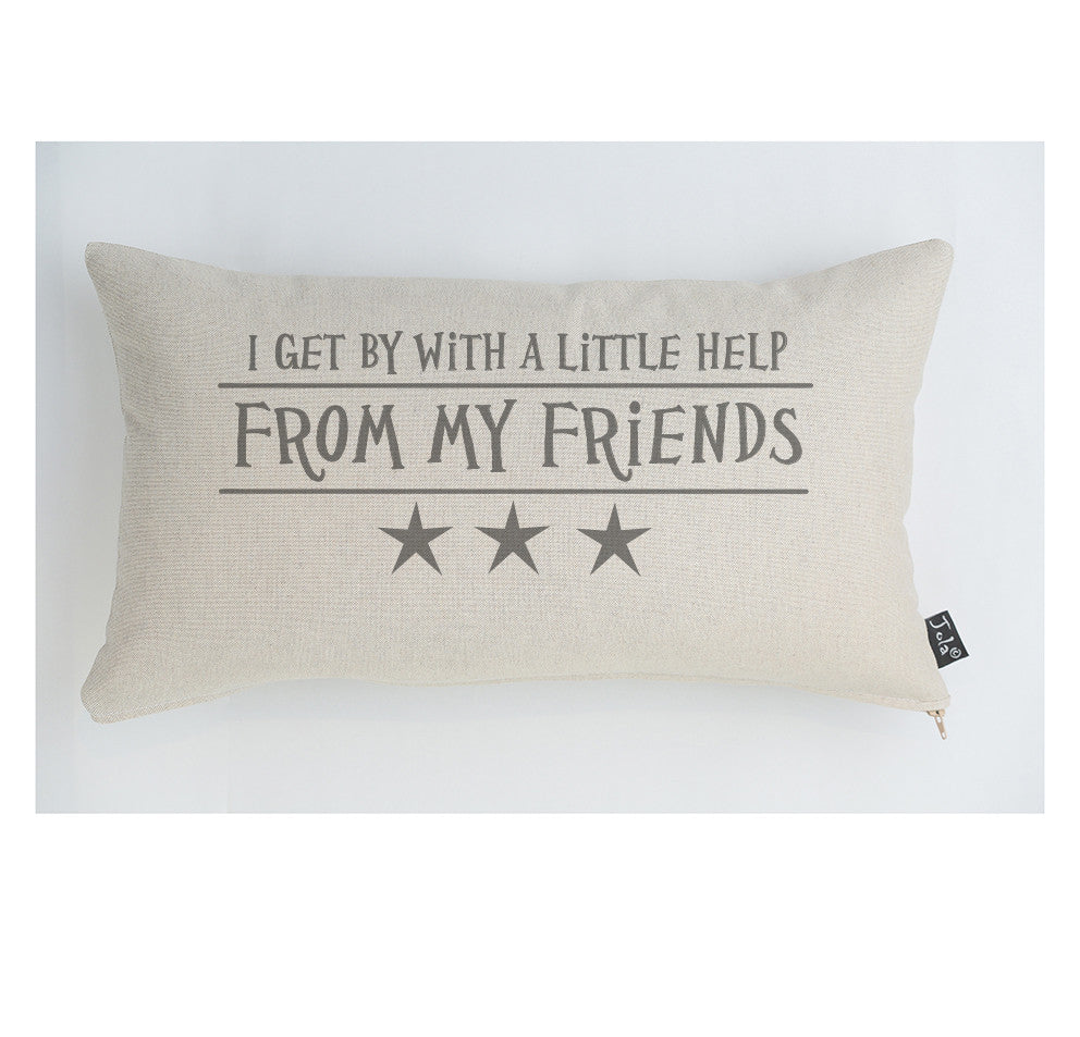 Help from my friends stars cushion
