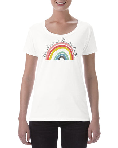 Cotton T Shirt Rainbow In this together