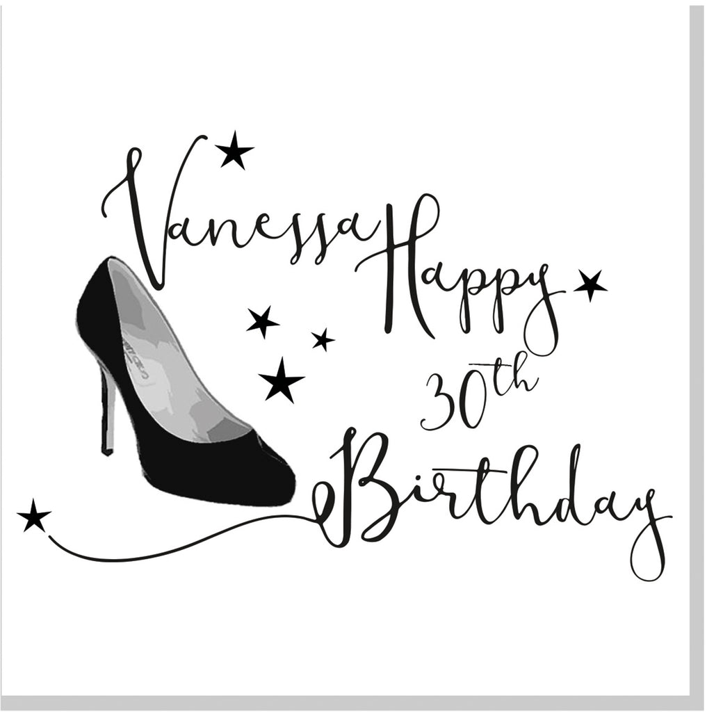 Personalised Shoe Happy Birthday square card