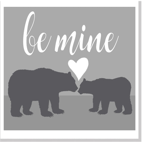 Bears be mine square card