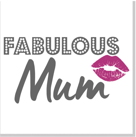 Fabulous Mum lipstick square card