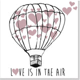Balloon Heart Love is in the air square card