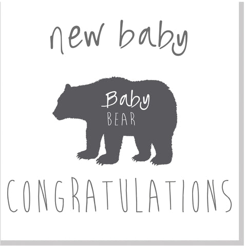 New Baby Bear square card
