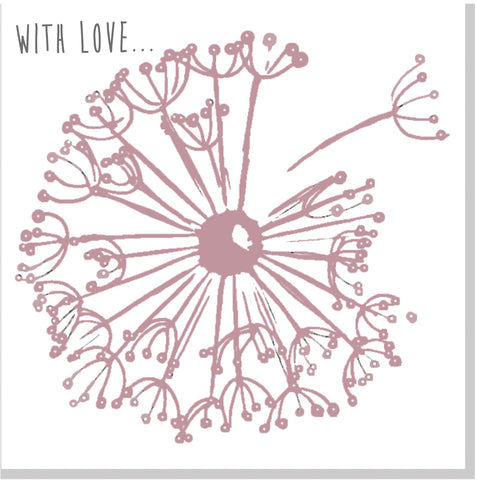 With love Dandelion card