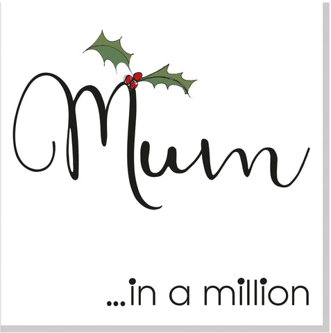 Mum in a Million Christmas card