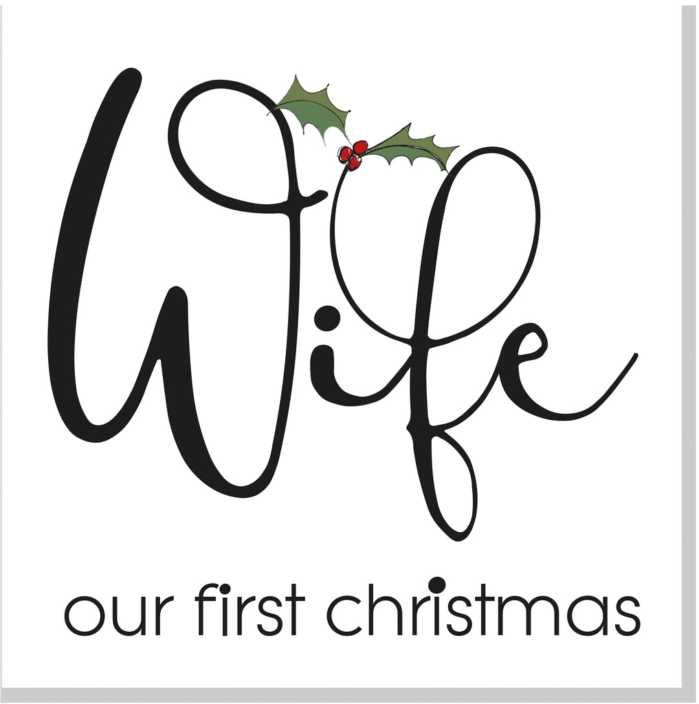 Wife 1st Christmas card
