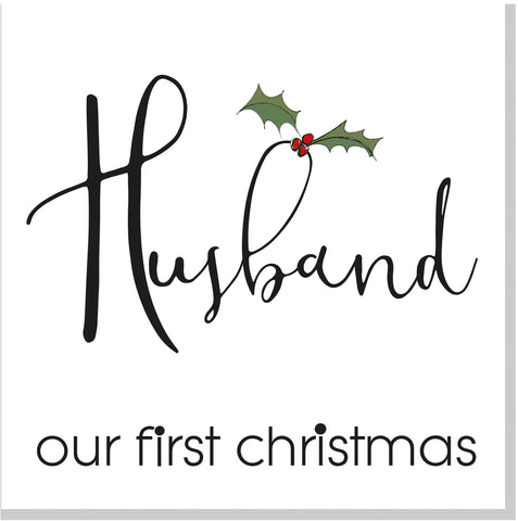 Husband 1st Christmas card