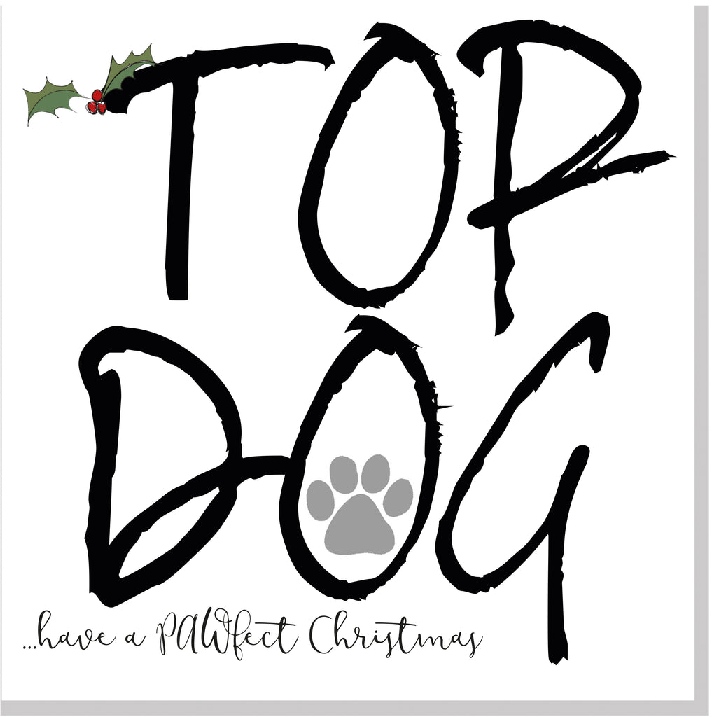 Top Dog Christmas card