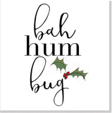 Bah Hum Bug Christmas card