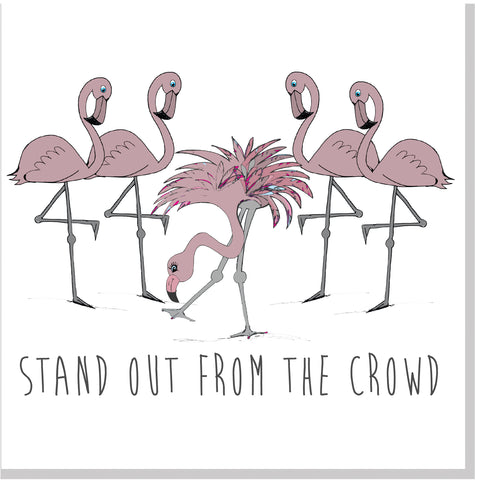 Stand out from the crowd square card