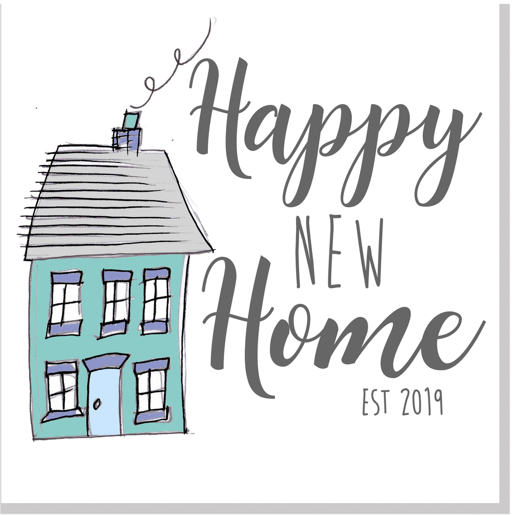 Happy new home house 2019 square card