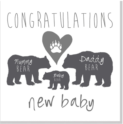 New Baby Bear family square card