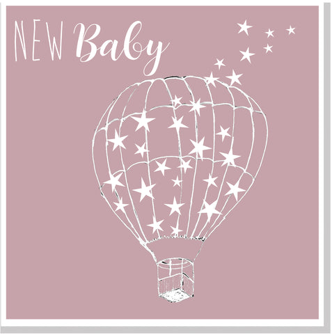 New Baby Balloon square card