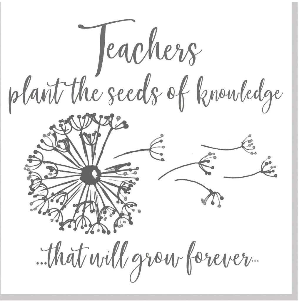 Teacher knowledge dandelion square card