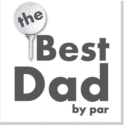 Best Dad by par square card