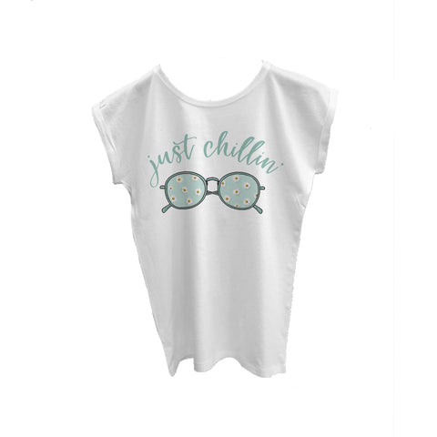 Cotton Capped T Shirt Just Chillin' Sunglasses