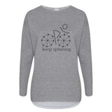 Keep spinning Cotton Slouch Sweatshirt