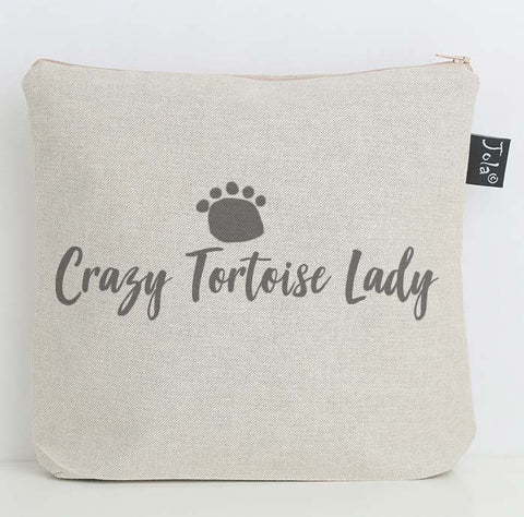 Crazy Tortoise Lady wash bag